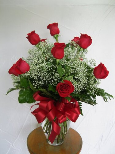 One Dozen Red Roses from Forever Flowers, flower delivery in St. Thomas, VI